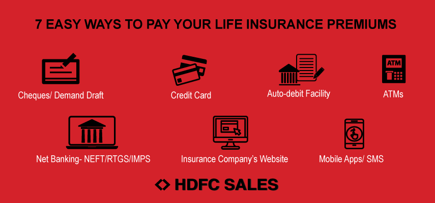7 Easy ways to pay your life insurance premiums - HDFC Sales