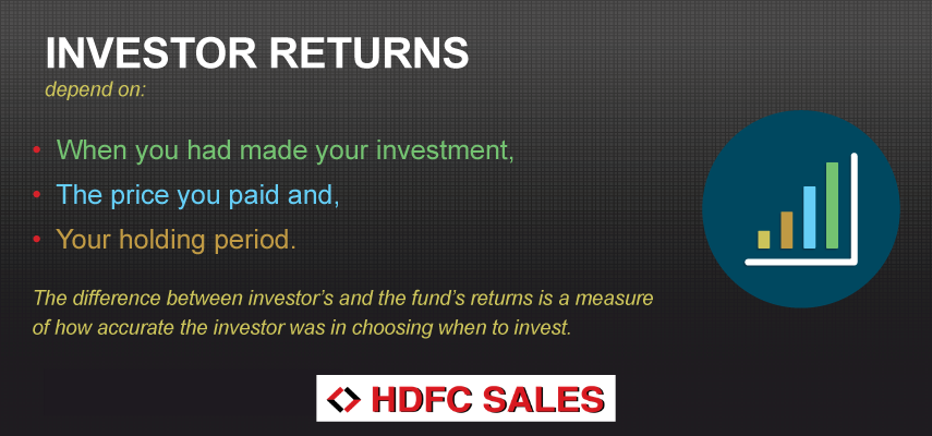 What do investor returns depend on