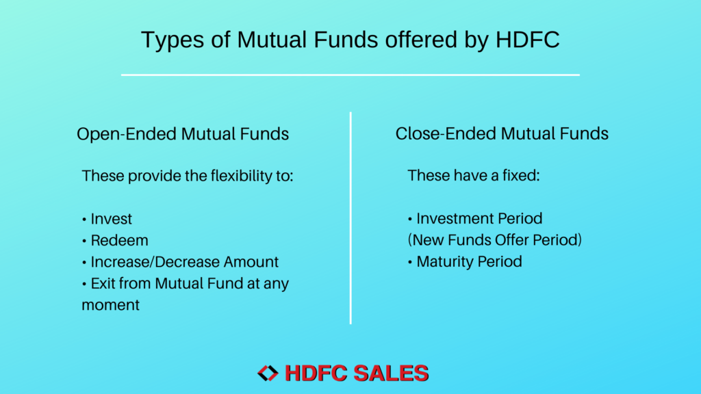 Types of Mutual Funds offered by HDFC
