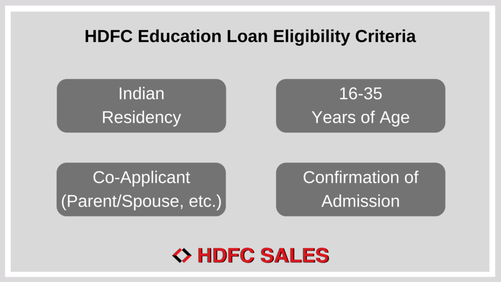 HDFC Education Loan Eligibility Criteria