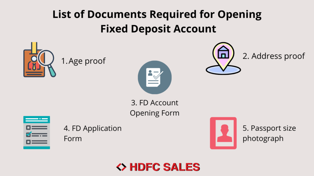 Documents Required for Opening FD Account