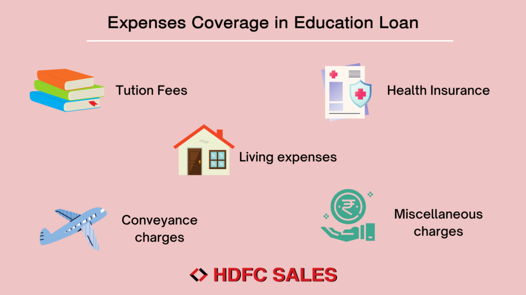 Expenses coverage in Education Loan