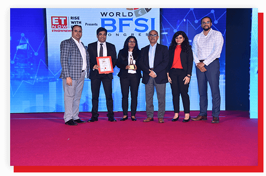 Awarded for Most Trusted Financial Service Provider by ET Now